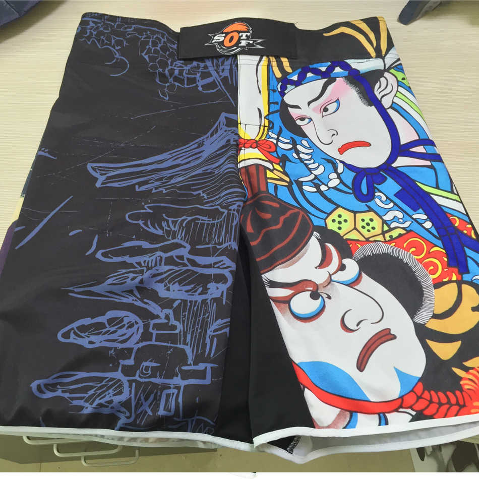 Sotf Peking Warna Bernapas Kapas Boxer Celana Pendek Olahraga MMA Pelatihan Tiger Muay Thai MMA Melawan Celana Pendek Kickboxingsanda Celana Pendek