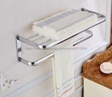 Bathroom Bath Towel Rack Chrome Polishing Quality Wall Mounted Towel Rail Holder Toilet Bar Towel Rack Nba831 стоимость