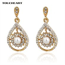 Toucheart золотые подарки брендовые большие серьги Модные ювелирные