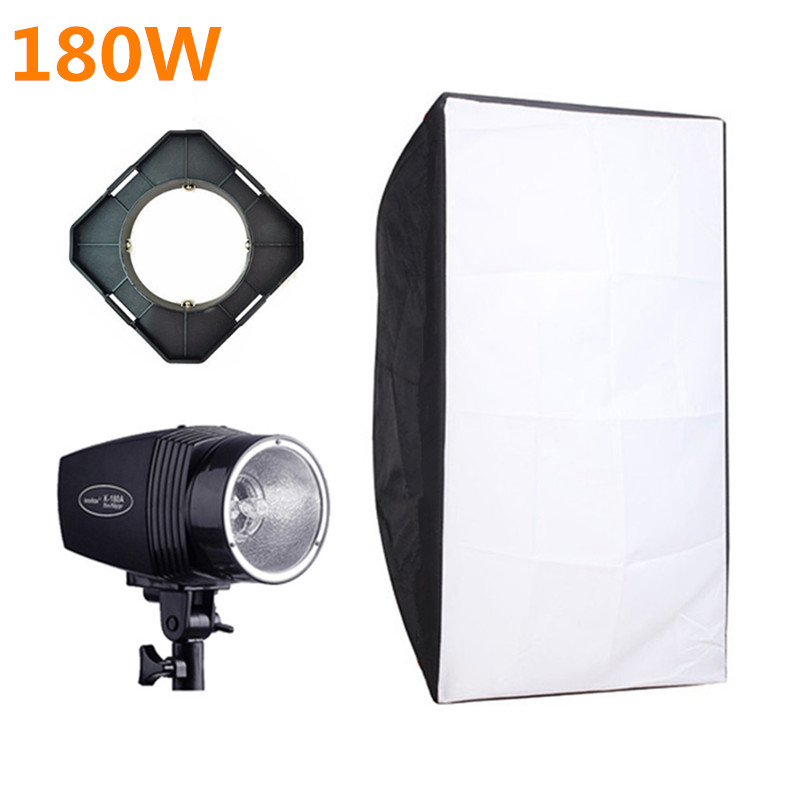 Godox K-180A Photography Soft Box Flash Lighting Kits 180ws 220v Strobe Light+50*70cm Softbox+Universal Mount Photo Studio Set цена 2016