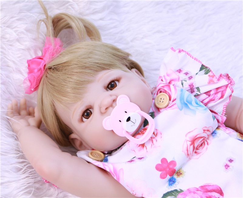 Nouveau silicone reborn poupées à vendre 55 CM taille nouveau-né bébés bonecas réaliste bébé réel vivant jouets pour les filles
