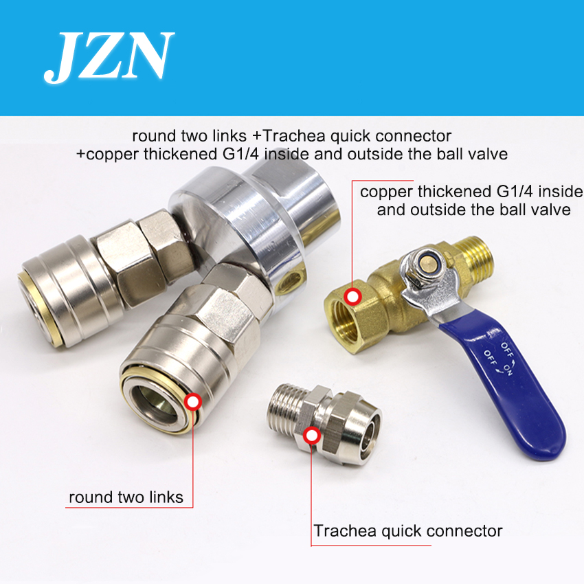C type pneumatic quick connector self-locking round two ventilation tube quick plug male and female air pump air compressor 10mm hose barb x socket pneumatic c type self locking fittings quick release connector for air compressor