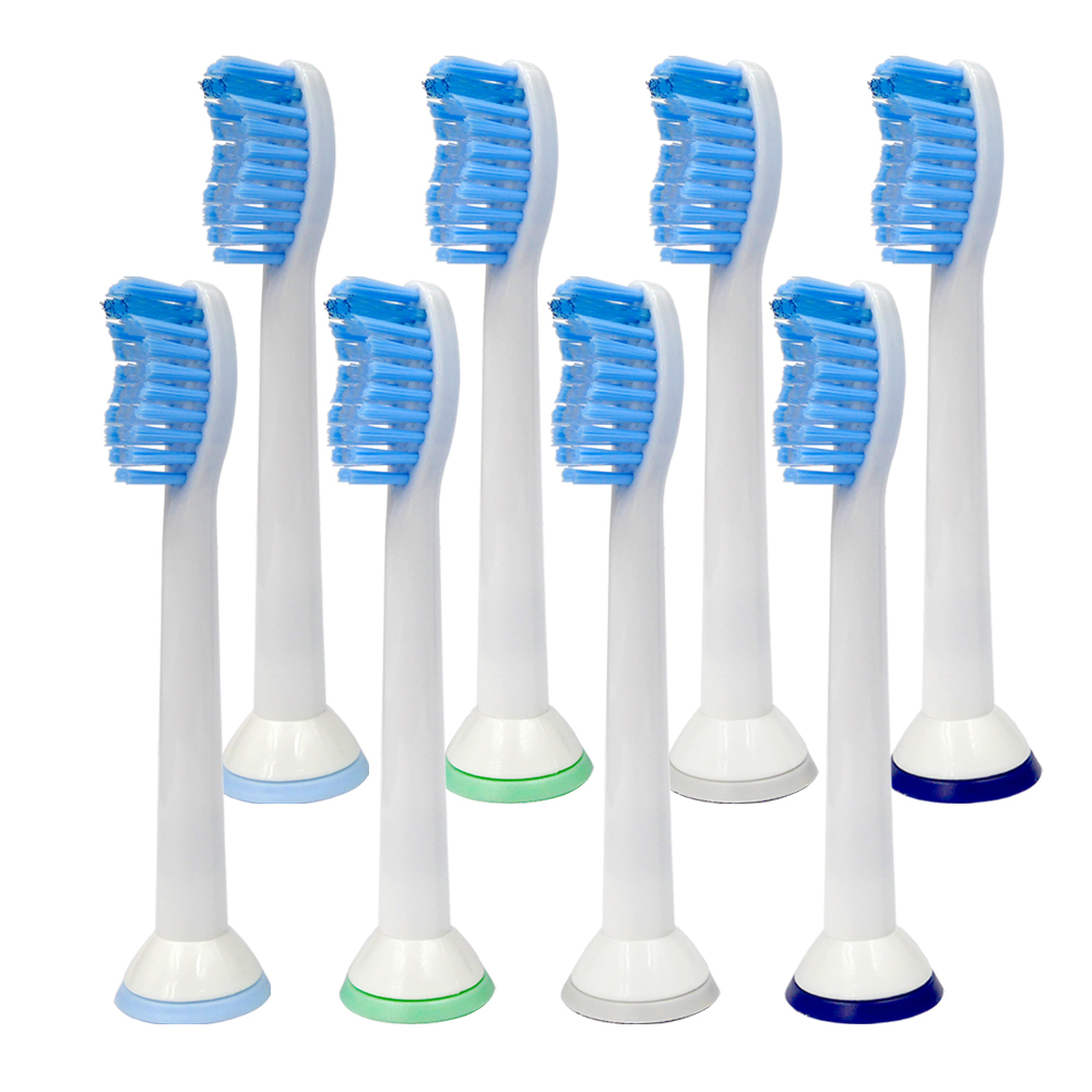8Pcs Tooth Brush Heads Electric Toothbrush Replacement Heads For Philips Sonicare Sensitive Easy Diamond Clean <font><b>HX6054</b></font> image