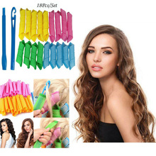 18pcs Magic Hair Curler Snail Rolls Natural Way Spiral Ringlets Rollers 2019 DIY Styling Auxiliary Tool for women Hair Curlers