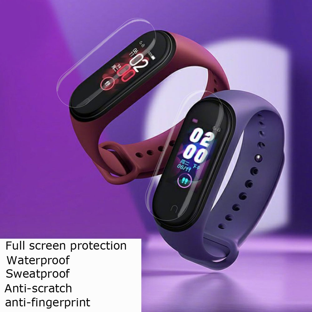 Image 2 - Mi Band 4 Protector Pantalla For Xiaomi Mi Band 4 3 Screen Protector Film For Xiaomi NFC Miband 4 3 Smart Bracelet Films 10 Pcs-in Smart Accessories from Consumer Electronics