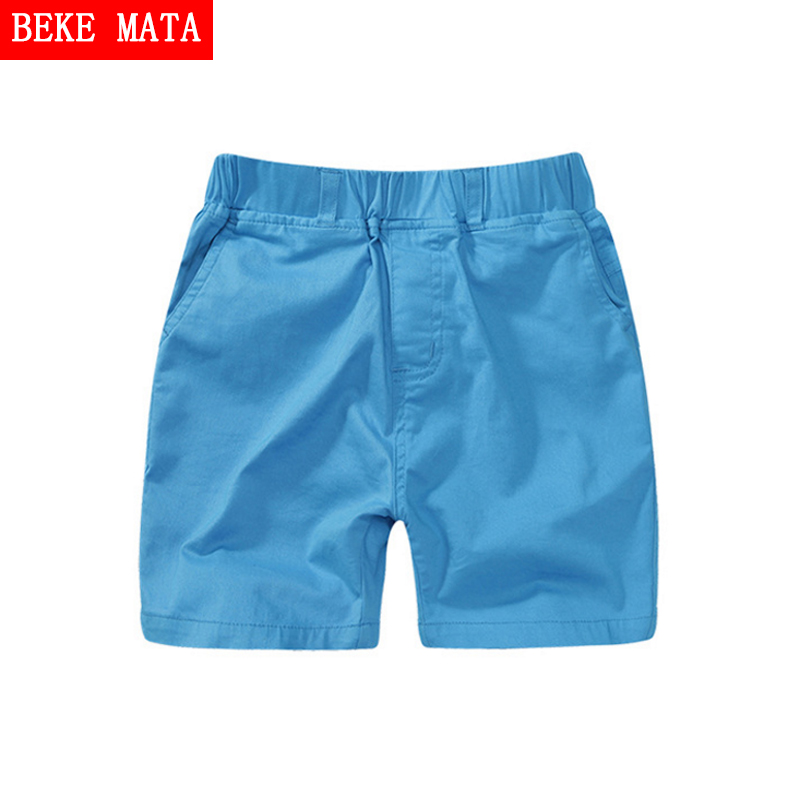 BEKE MATA Cotton Shorts For Boys 2017 Casual Candy Summer Pants School Boy Shorts Solid Kids