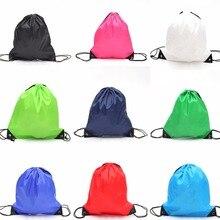 Nylon Drawstring Bag Rope Backpack Custom Bags Shoulder 2017 School Sport Swim Dance Shoes