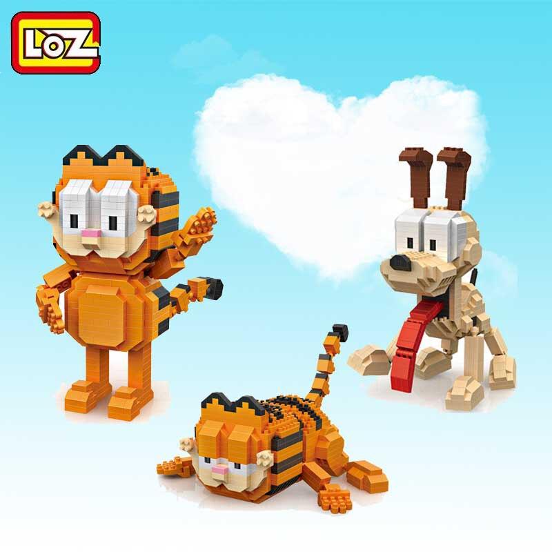 Loz Unica Venda Mini Garfield Dos Desenhos Animados Bonecas