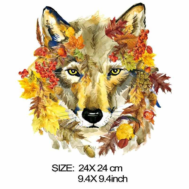 COSBILL hierro en transferencias hermoso parche de lobo para la ropa Diy acuarela A-nivel lavable decoración aplique en la ropa Y-159