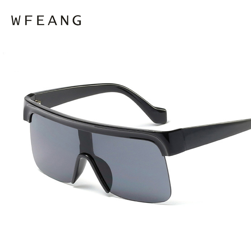 WFEANG Half Frame Men Sunglasses Classic Retro Vintage Sun glasses Women Brand Designer Sunglasses Women Top Quality UV400 in Women 39 s Sunglasses from Apparel Accessories
