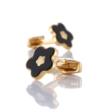 Luxury shirt cufflinks for mens Brand Gold cuff buttons Flower shape cuff links gemelos High Quality wedding abotoaduras Jewelry