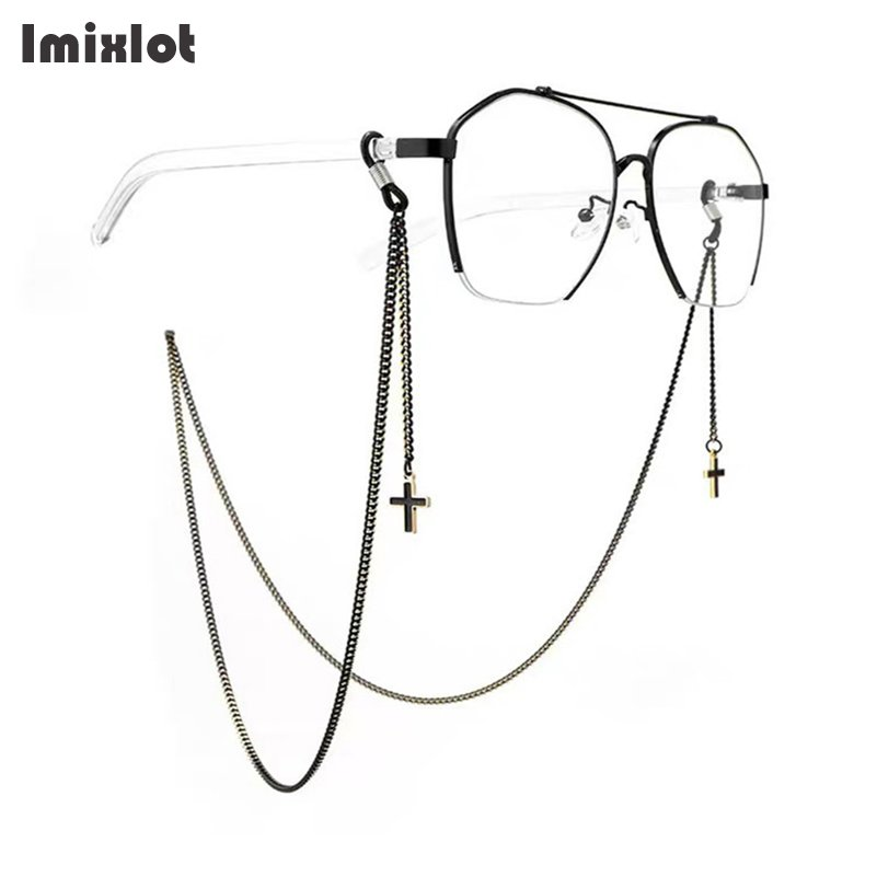 Fashion Pendant Glasses Chains Cross Heart Star Flower Eyeglasses Sunglasses Spectacles Metal Chain Holder Cord Lanyard Necklace