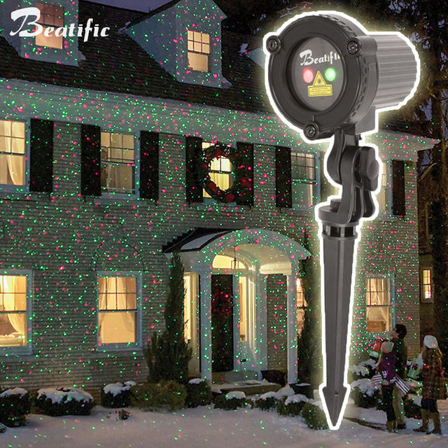 Outdoor Garden Decoration Waterproof IP44 Christmas Laser Light Star  Projector Showers Red Green Static Twinkle - Outdoor Garden Decoration Waterproof IP44 Christmas Laser Light Star