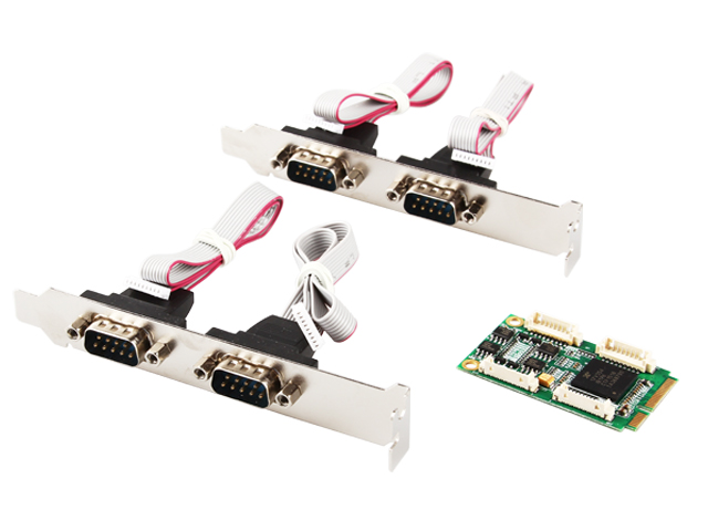 MINI PCI-E to 4 port RS422/485 industrial serial port card MINI PCIE TO 422 IO-MPCE354A-4S 4 port serial rs232 rs 232 com port to pci e express pcie adapter with cable 9904 chip