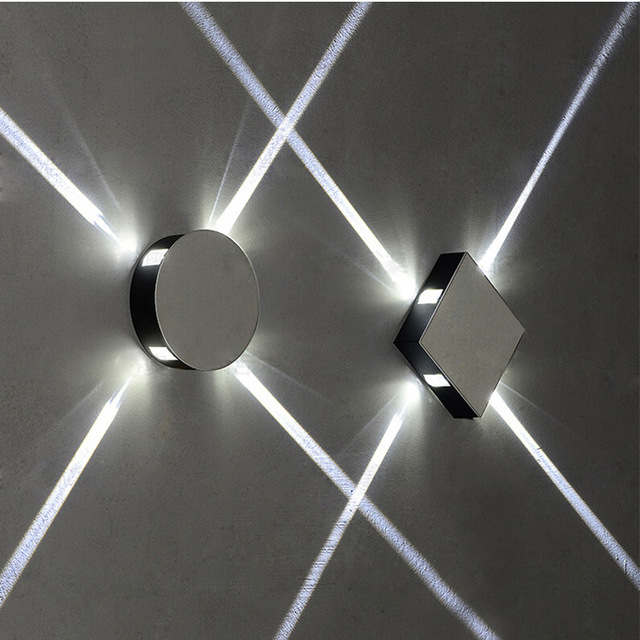 Us 10 0 Led Cross Light Effect Wall Lamp Aisle Balcony Decorative Wall Lights Indoor Bedside Background Lights Living Room Bar Ktv Model In Led