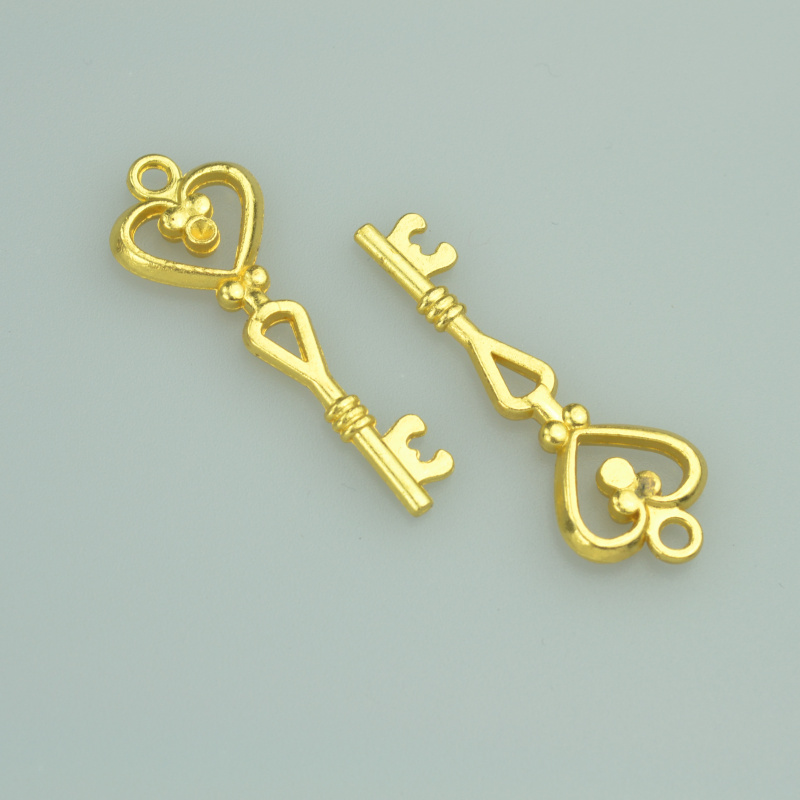 55 pcs metal charms gold color key pendants jewelry findings and components fit Necklaces and bracelets making A4031