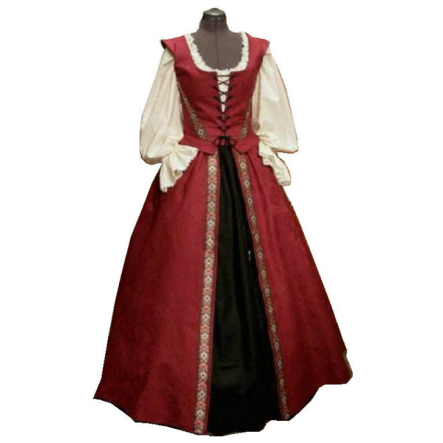 Historical Customer Made 17 Century Vintage Costumes Renaissance Dress Steampunk Dresses Gothic Cosplay