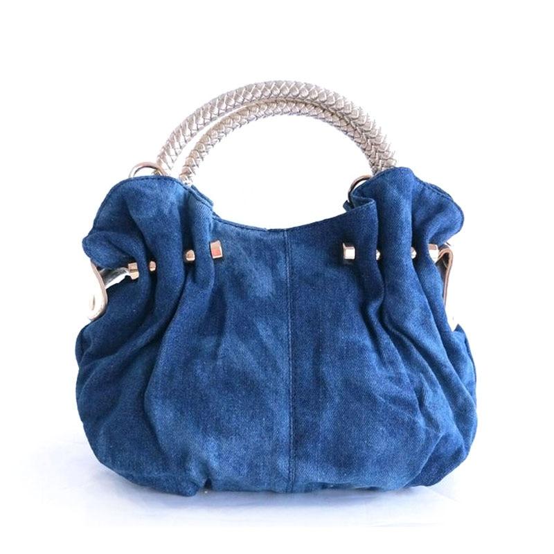 2018 New Flower Denim Women Handbags Shoulder Bag For Female Designer Embroidery Ladies Hand bag Famous iPinee Brand Tote