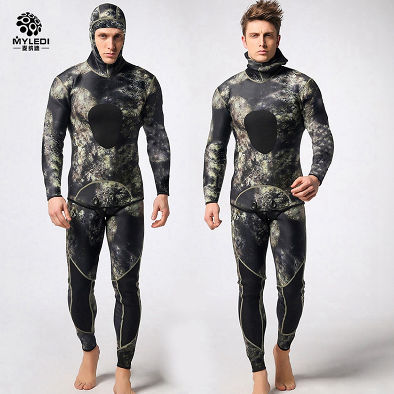 men 3mm two pieces SCR nylon diving suit Spearfishing wetsuit snorkeling surfing male Rash Guards fishing clothes swimwear