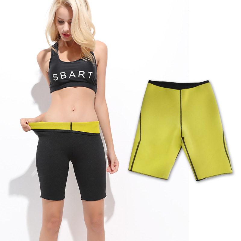 Women Sweat Capri Slimming Pants Hot Thermo Neoprene Sauna Leggings Shapewear Shorts 2mm