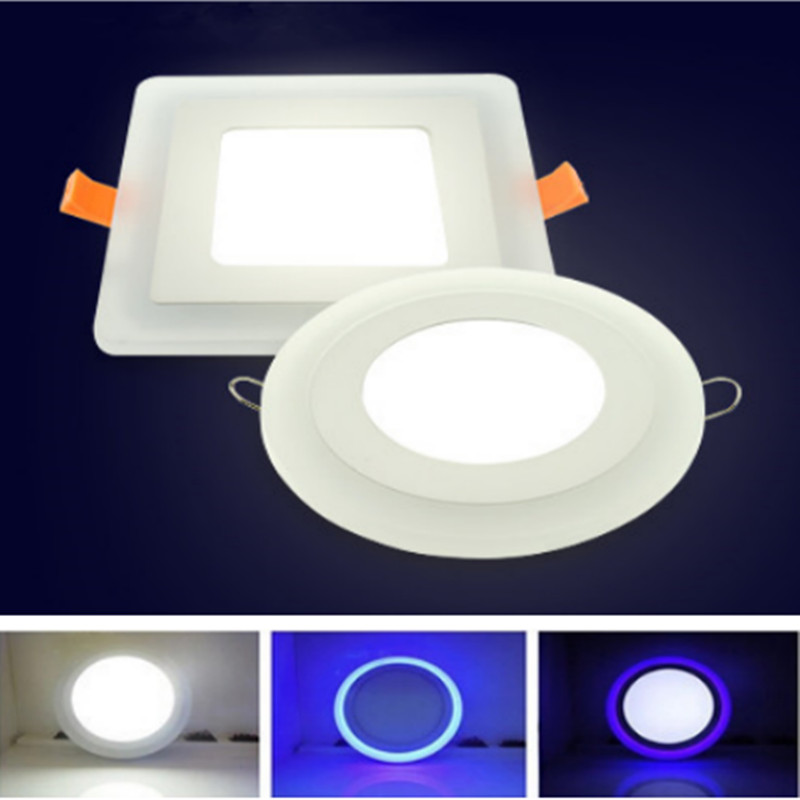 LED Downlight Round/Square 6W 9W 16W 24W 3 Model Downlight Recessed Ceiling Panel Light AC85-265V+Driver