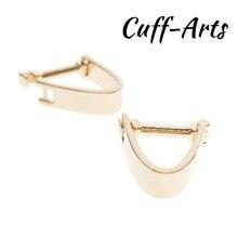 лучшая цена Cufflinks  For Men Lock Shaped Gold Color Brass  New Arrival Novel Men With Gift Box By Cuffarts C10153
