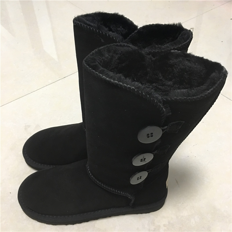 New UG Classic Women Snow Boots Leather Winter Shoes Boot bota feminina botas mujer zapatos Women's Fur Snow Boots Size US 4-13 pu leather martins women boots snow boots military girls for casual walking shoes winter femme bota 2017 7687