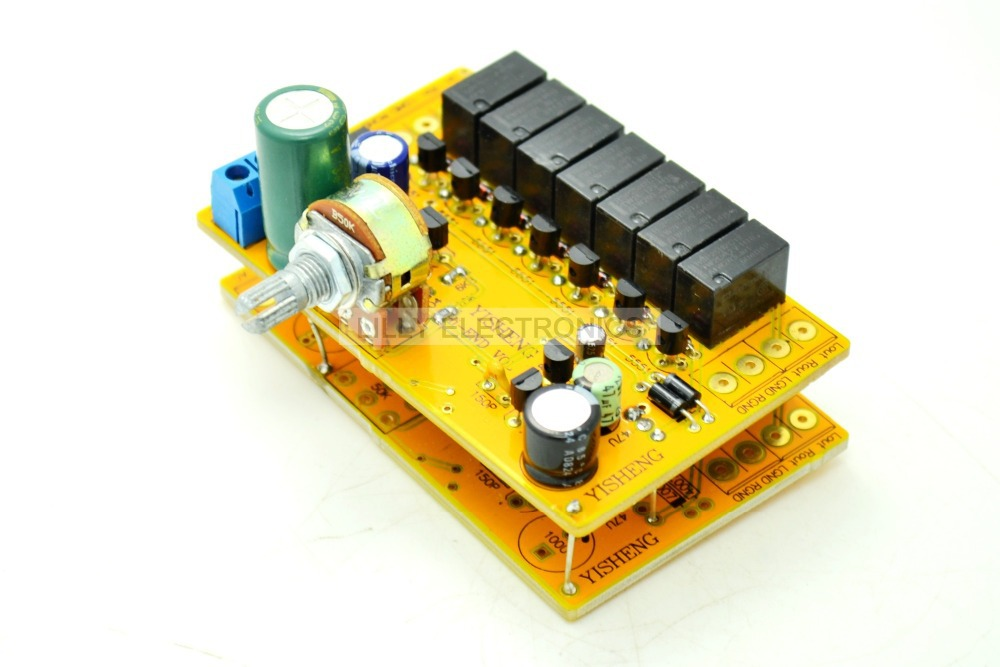 YS HIFI 4-Channel Relay Volume Control Board Potentiometer ALPS AC12V-18V balance version jv8 hifi remote control volume board kit 128 steps 2 channel 50k exponential constant input impedance relay
