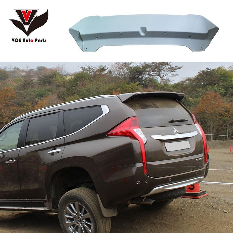 VOE Pajero Sport 2016+ Spoiler ABS Plastic Material Unpainted Primer Rear Wing Spoiler for Mitsubishi PAJERO SPORT 2016 2017 yandex w205 amg style carbon fiber rear spoiler for benz w205 c200 c250 c300 c350 4door 2015 2016 2017
