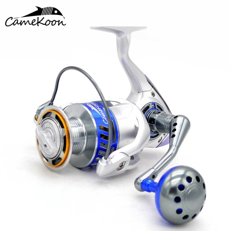 CAMEKOON MF5500 All Metal 4.6:1 Gear Ratio 12+1 Bearings Smoothest Saltwater Spinning Fishing ReelCAMEKOON MF5500 All Metal 4.6:1 Gear Ratio 12+1 Bearings Smoothest Saltwater Spinning Fishing Reel