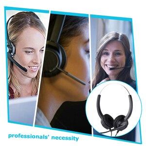 Image 4 - Наушники для колл центра с спиральным одиночным Aux/двойным Aux/USB/RJ9 кабелем, шумоподавляющим микрофоном, 8 часов работы, гарнитура для звонков по обслуживанию клиентов