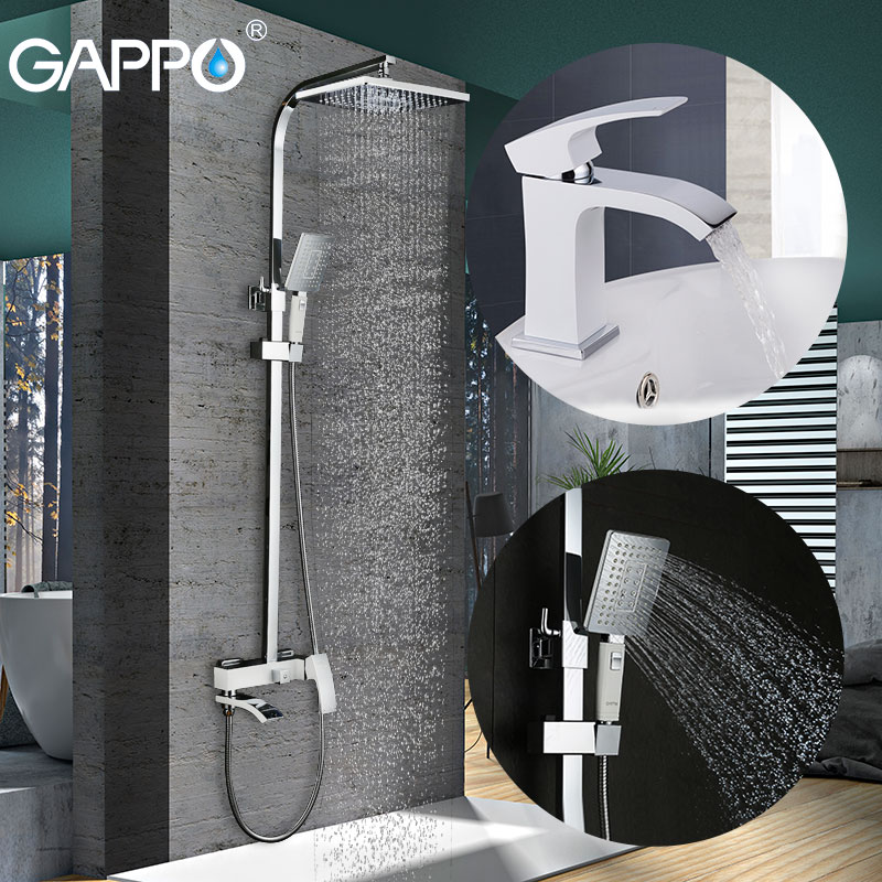 GAPPO white Shower Faucets bathroom faucet mixer bath shower head basin faucet basin sink mixer water taps