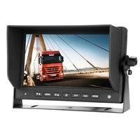 AHD 1080P Car LCD Monitor with 4 PIN Aviation Connector for Backup Rear View Reverse Camera Truck Bus RV Caravan Van Trailer