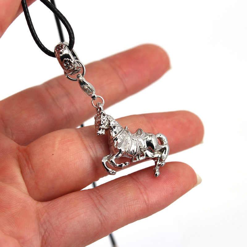 Hzew 3D pferd anhänger halskette pferd halsketten