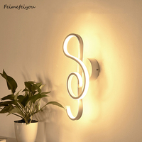 note wall lights bedside wall lamp wall sconce modern wall light for bedroom E27 85 285V