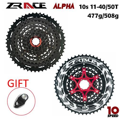 ZRACE Alpha 10s Lightweight Cassette 10 Speed MTB bike freewheel 11-46T/50T - black