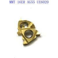 ag55 vp15tf ue6020 MMT16ER AG55 VP15TF / UE6020 / US735 קרביד משורשר Blade עבור חוט פנימי הפיכת חוט חיצוני מפנה CNC כלי מחרטה כלי (3)
