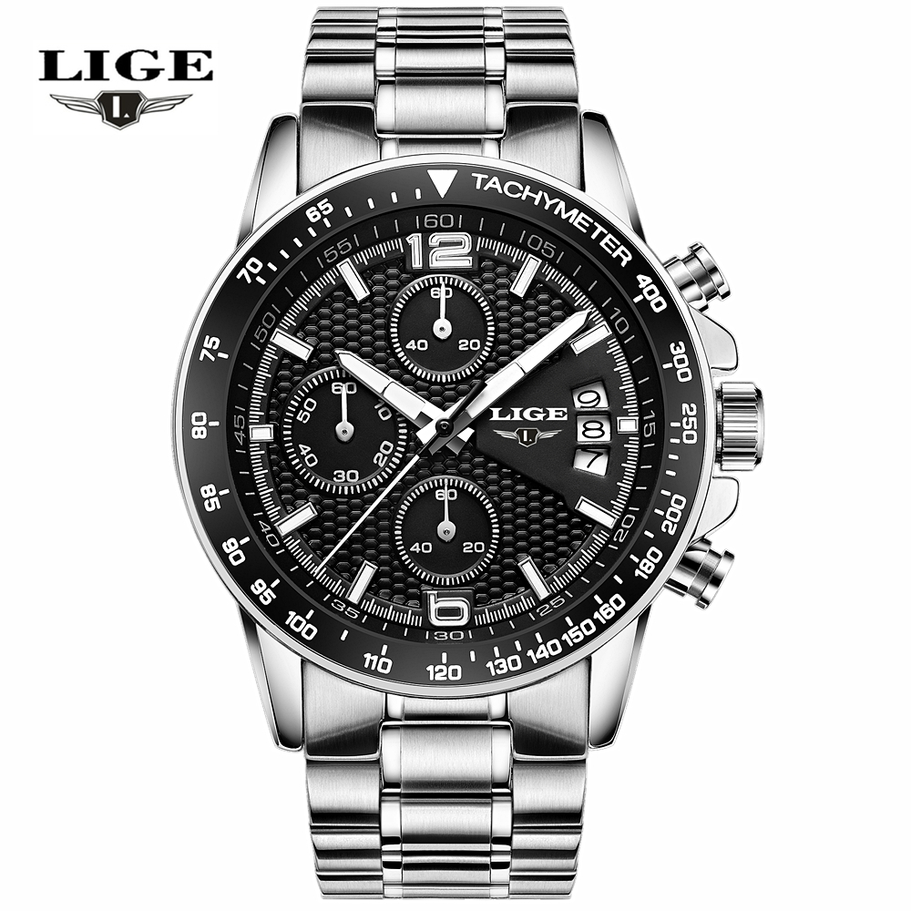 LIGE Waterproof Casual Sport Watch Men Military Quartz Watch Mens Watches Top Brand Luxury Date Leather Clock Relogio Masculino 2017 new top fashion time limited relogio masculino mans watches sale sport watch blacl waterproof case quartz man wristwatches