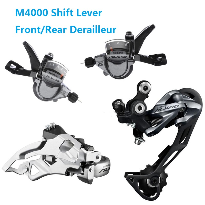 3 x 9s 27Speed Bicycle Derailleur Suit Shimano ALIVIO M4000 T4000 Front Rear Derailleur Shift Lever MTB Bike Accessories зонт edmins umbrellas 301 301 62