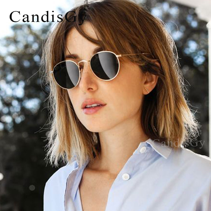 254bc67e613b Rose Gold Round Sunglasses Women Fashion Brand Designer Metal Frame Vintage  Mirror Sun Retro Glasses Female UV400-in Sunglasses from Apparel  Accessories on ...