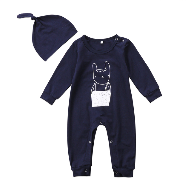 f84b2e986bcb Newborn Kids Baby Boy Girls Romper Babies Cartoon Jumpsuit Rabbit ...