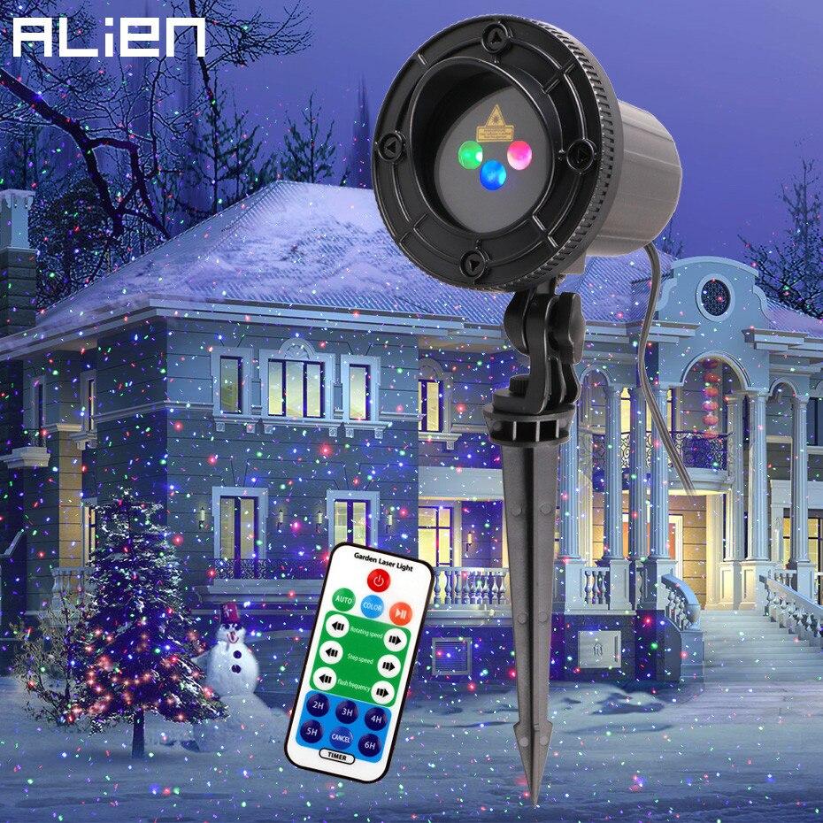 Чужой RGB перемещение статические точки Звезда Рождество лазерный свет проектор Открытый Сад праздник Рождество дерево декор эффект шоу огн...