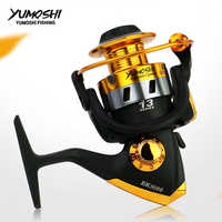 yumoshi New Spinning Fishing Reel Metal Spool 12BB Bearing Balls 1000-7000 Series Fishing Wheel