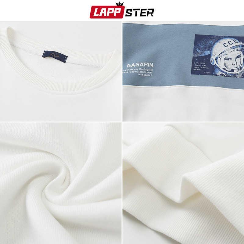 LAPPSTER Men Japanese Streetwear Hoodies 우주 비행사 스웨터 2020 Mens 하라주쿠 힙합 스웨터 남성 한국 흰색 후드