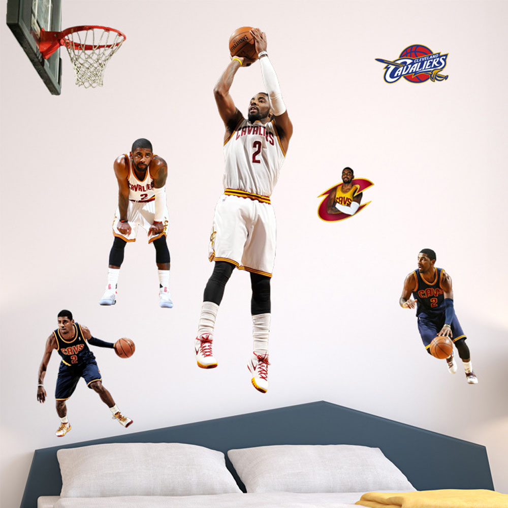 Removable Nba Basketball Wall Decor Stickers Kids Bedroom Diy Baby Nursery Wall Decals Self Adhesive