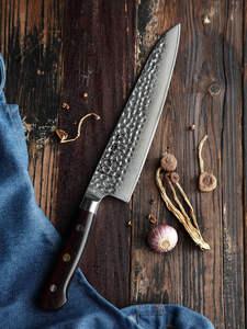 HEZHEN 8,5 ''нож шеф-повара, японский Дамасская сталь, профессиональные кухонные ножи, супер острый нож VG10, нож для мясника, ручка Dalbergia