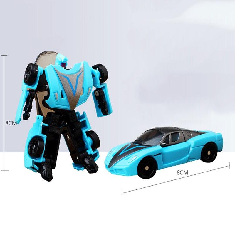 Deformation Robot Transform Toys Car Children Boy 8cm 6-Types Gift Series Kid 1piece