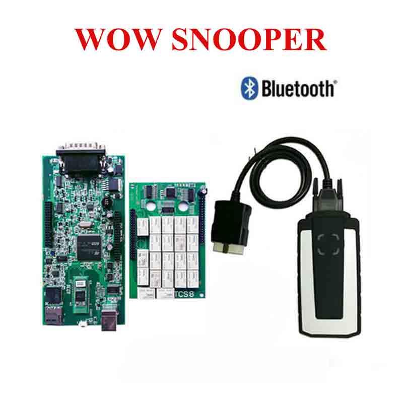 2019 meilleur relais WOW CDP SNOOPER V5.008 R2 + keygen TCS CDP Pro Plus avec Bluetooth USB comme multidiag OBD pour voitures camions livraison gratuite
