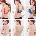 2016 Sexy Women Bralette Caged Back Cut Out Padded Bra Crop Top