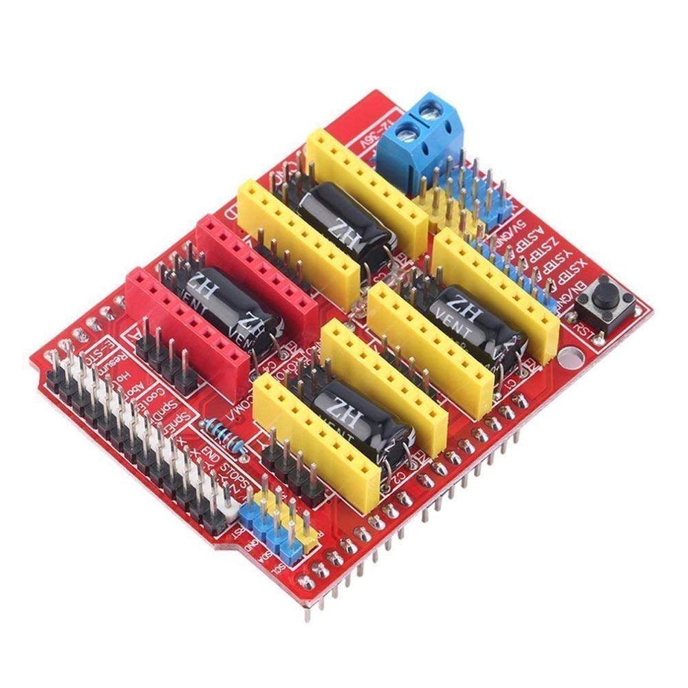 3D Imprimante CNC Kit pour Arduino GRBL Bouclier + UNO R3 + RAMPES 1.4 Commutateur mécanique butée finale + DRV8825 Moteur + moteur Nema 17 - 3